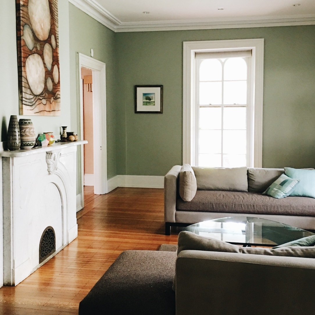 Sage Green Walls Contemporary Style